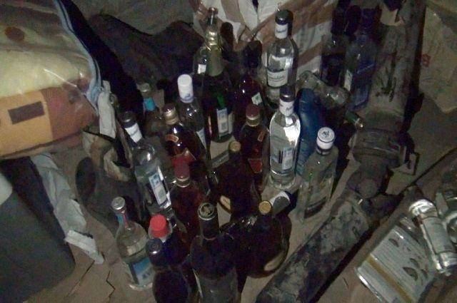 8 тысяч бутылок изъяли полицейские в Канске