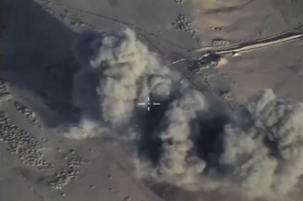 Нанесение российской авиацией авиаудара по объектам ИГИЛ, запрещенной в России.