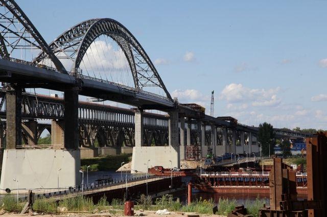 Строительство дублера Борского моста