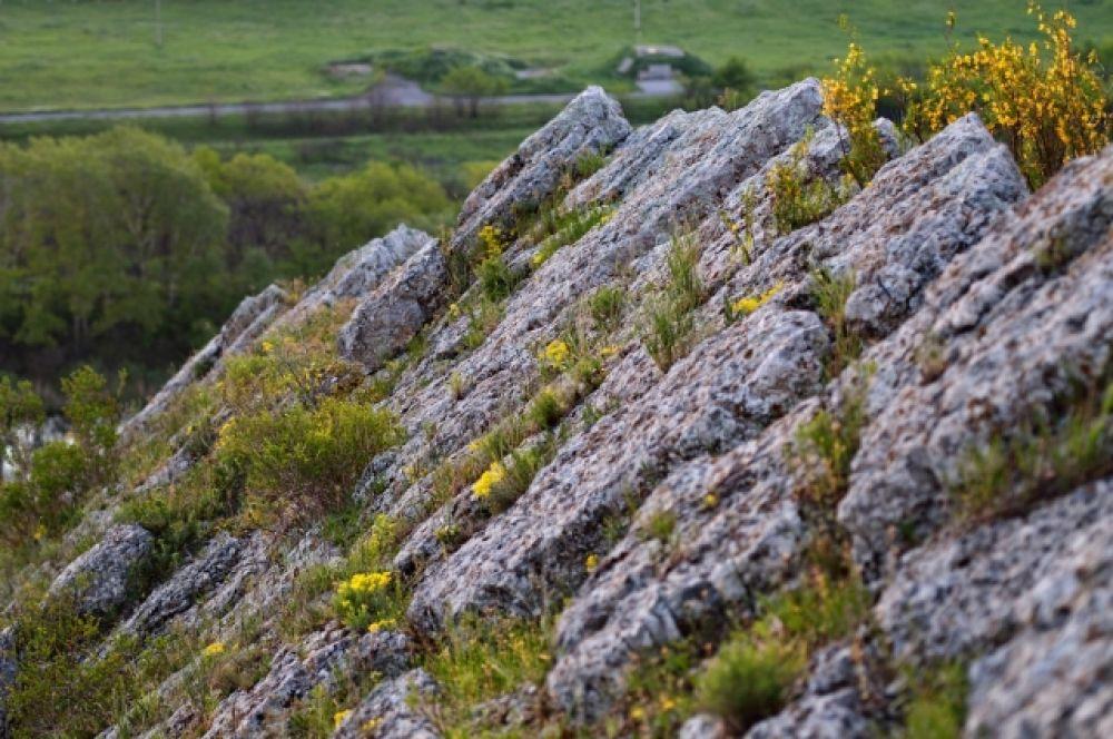 Острый гребень скалы не очень способствовал тому, чтоб установить на нём штатив.