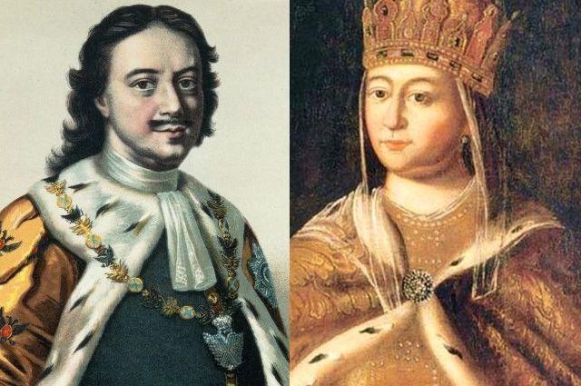 Петр I  и Евдокия Лопухина.