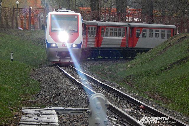 На железной дороге под Красноярском произошло падение крана.