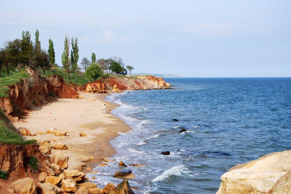 Пляж села Фонтанка возле Одессы