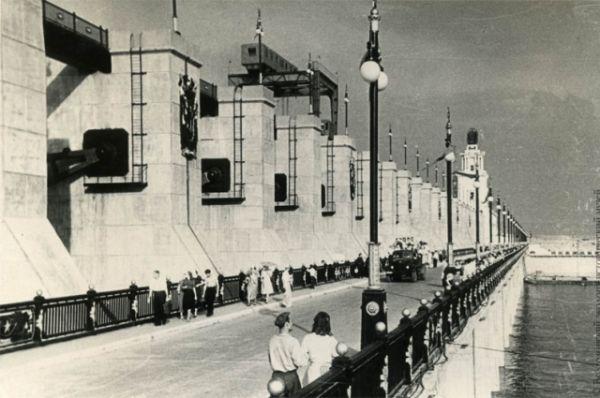 Цимлянская ГЭС 1950-е годы.