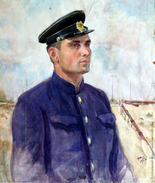 Николай Жуков. Портрет начальника земснаряда №306 Виктора Михайлова.
