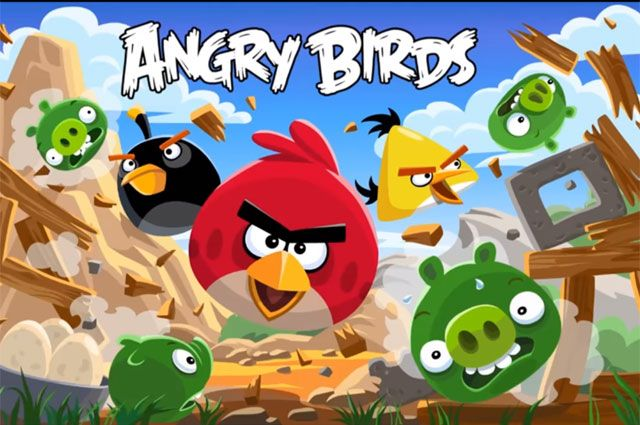Игра Angry birds.