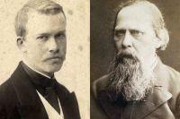 Борис Кустодиев и Михаил Салтыков‑Щедрин.