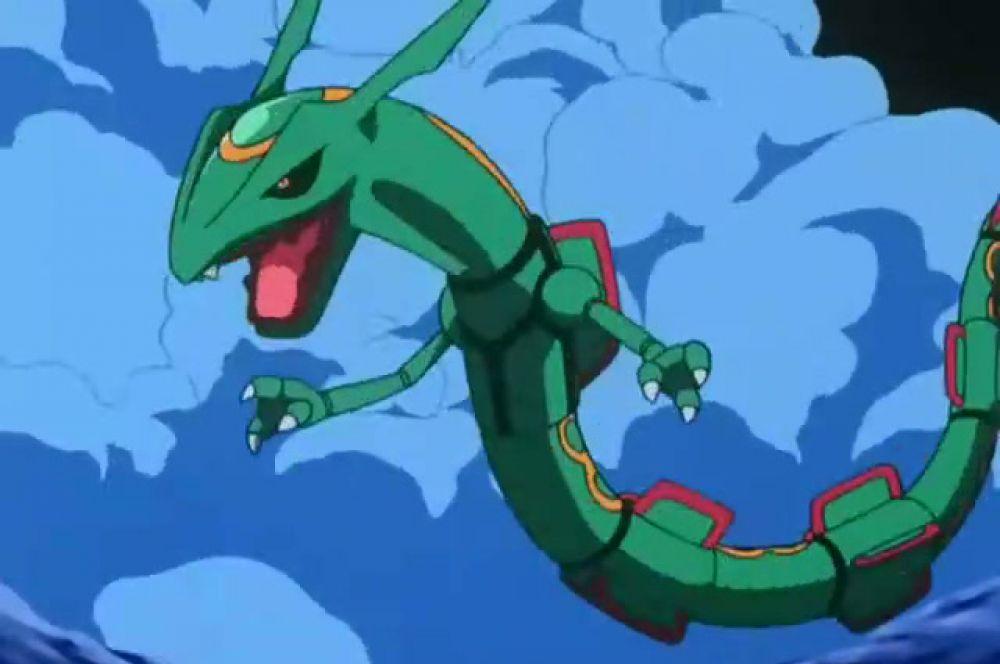 Рейкваза. Редкий покемон, который не часто встречается во франшизе, и потому легендарный. Его считают одним из самых могущественных покемонов.