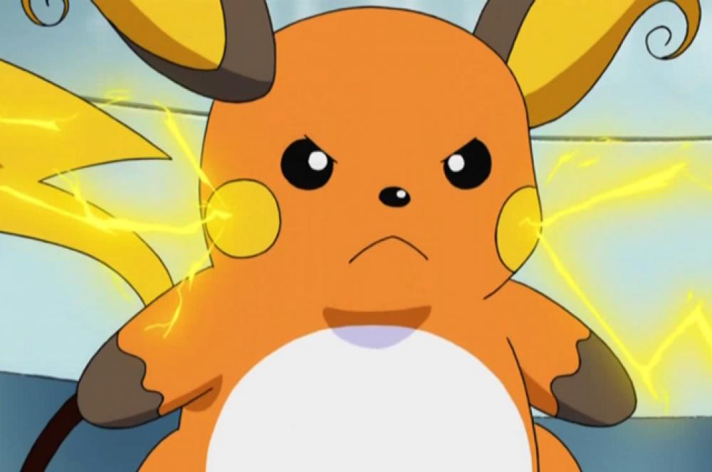 Райчу. В этого покемона может эволюционировать Пикачу. Из-за большой популярности Пикачу у Райчу фанатов не так много.