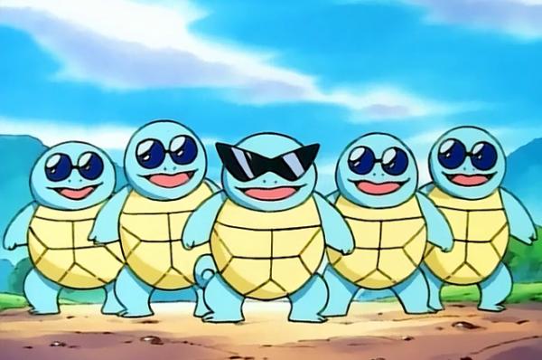Сквиртл. По мнению журнала Time, это один из самых популярных покемонов первого поколения.