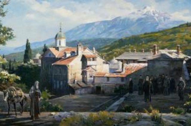 Картина «Ксилургу. Проводы преп. Антония на Русь»