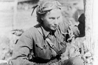 Лидия Литвяк. 1942 год. Фото из личного архива Натальи Кравцовой.