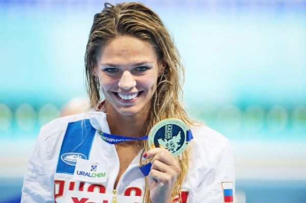 Юлия Ефимова, плавание, четырехкратная чемпионка мира.