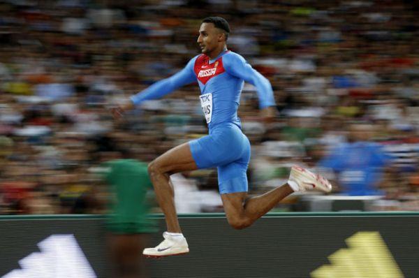 Люкман Адамс, легкая атлетика, тройной прыжок, чемпион мира в закрытом помещении.