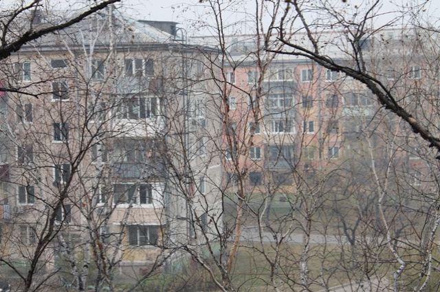 Дымка повисла над Новосибирском.