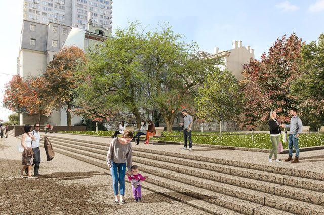 Скоро на Новом Арбате можно будет гулять, отдыхать, играть с комфортом и удовольствием...