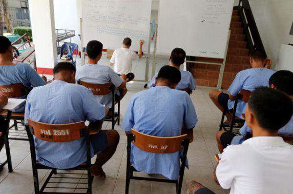 Заключенные на уроке английского.