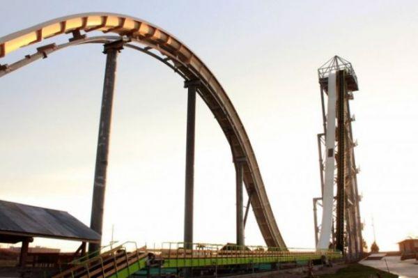 Verruckt считается самой высокой водной горкой в мире с высотой больше 50 метров. Находится в США, в Канзас Сити