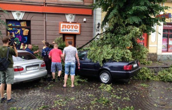 Больше всего пострадала центральная часть Ужгорода