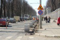 Ремонт пр. Ленина в Ярославле начался ещё весной, а закончится только в следующем году.