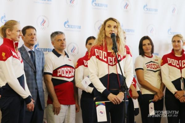 Член олимпийской сборной России по синхронному плаванию Наталья Ищенко.