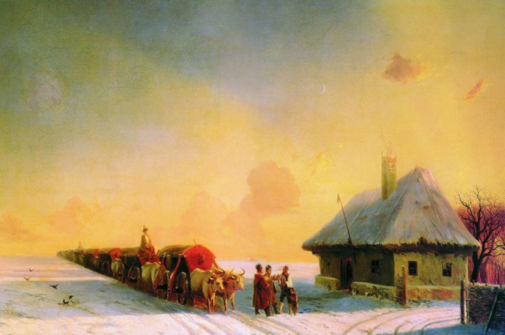 «Чумаки в Малороссии» (1870-1880).