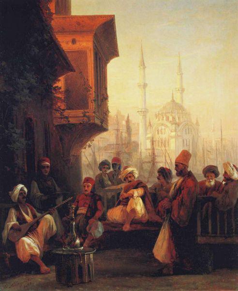 «Кофейня у мечети Ортакёй в Константинополе» (1846).