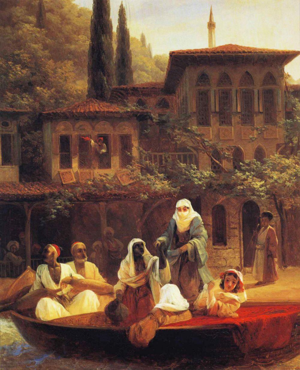 «На лодке по Кумкапы в Константинополе» (1846).