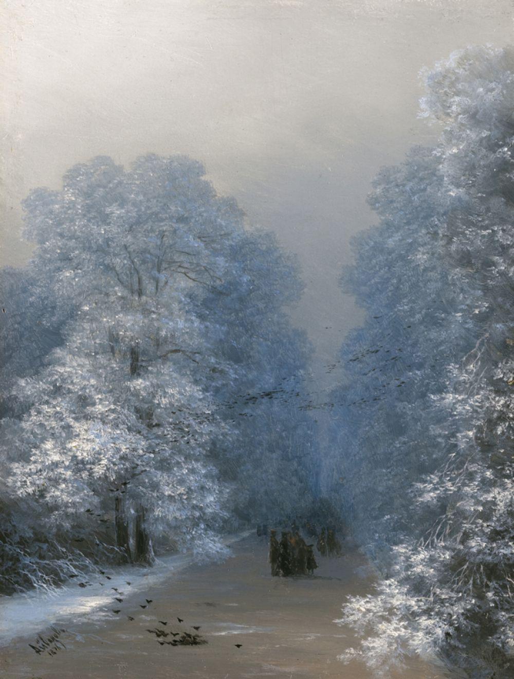 «Зимний пейзаж» (1876).
