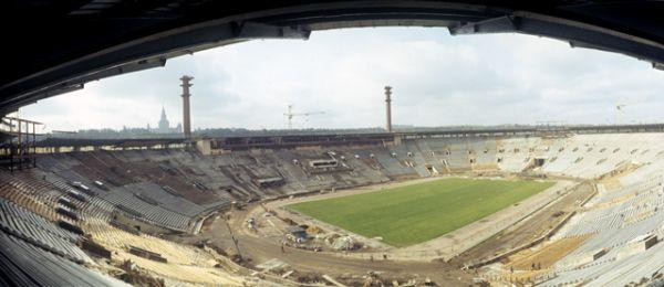 Реконструкция Центрального стадиона им. В. И. Ленина в Лужниках, 1979 год.