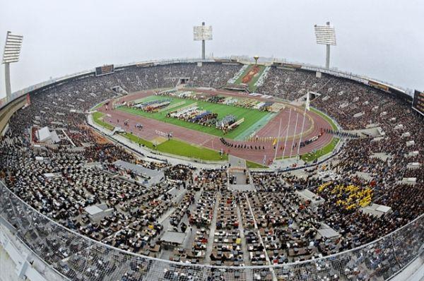 Церемония открытия XXII Олимпийских игр на Центральном стадионе имени Ленина в Лужниках, 1980 год.