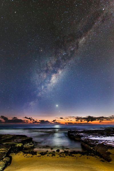 На этом фото из Австралии видно Меркурий и Венеру. Фотограф - Ivan Slade
