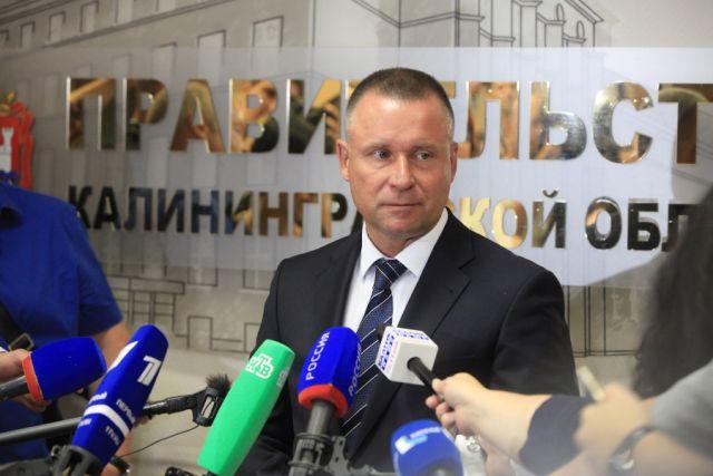 Евгений Зиничев на первой пресс-конференции в должности врио губернатора Калининградской области.