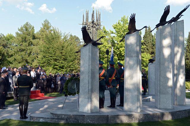 Открытие памятника российским и советским воинам, погибшим на территории Словении в годы Первой и Второй мировых войн.