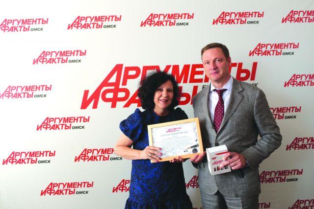 Ольга Сурадеева и Владимир Седельников в пресс-центре