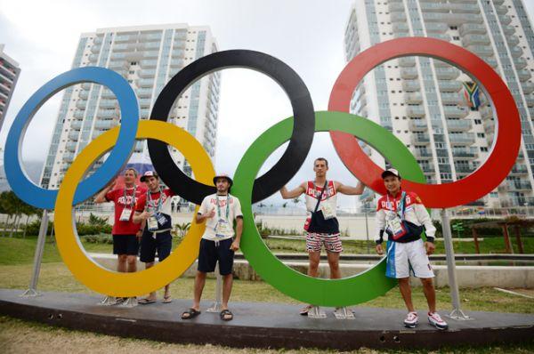 Спортсмены сборной России в Олимпийской деревне в Рио-де-Жанейро.