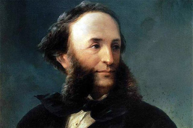 Автопортрет И. Айвазовского (1874), галерея Уффици.