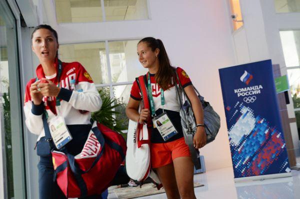 Российские теннисистки Анастасия Мыскина и Дарья Касаткина.