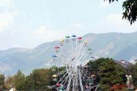 Благодаря заметному отовсюду колесу обозрения, парк аттракционов Геленджика манит к себе посетителей издалека.