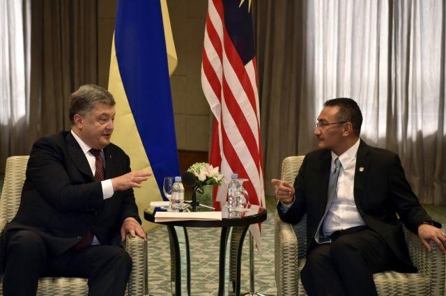 Порошенко обсудил сминистром обороны Малайзии военно-техническое сотрудничество стран