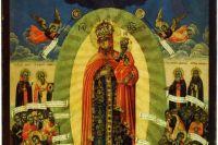 Точный мерный список с чудотворной иконы из Скорбященской церкви на Ордынке (последняя четверть XVIII века)