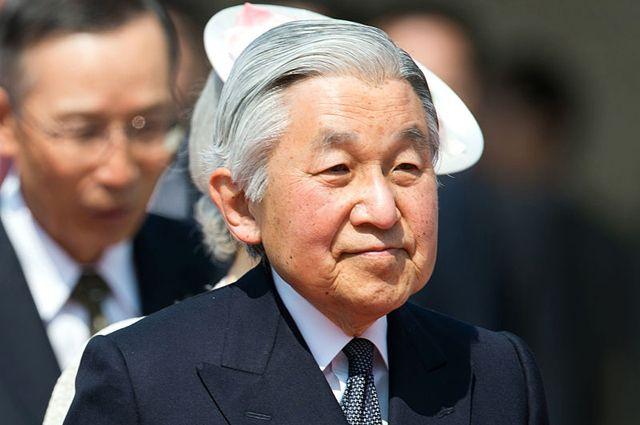 Император Японии Акихито. 2014 год.