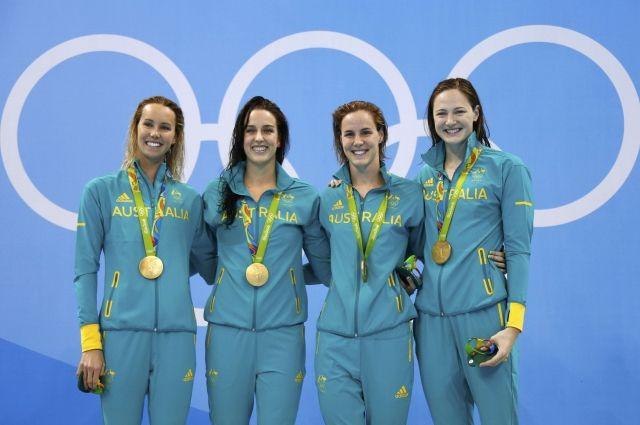 Австралийские пловчихи наОлимпиаде побили мировой рекорд вэстафете