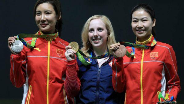 Virginia Thrasher из США завоевала первое золото среди женщин в соревнованиях по стрельбе с ружья