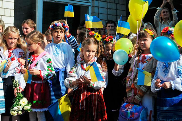 Украинские школьники.
