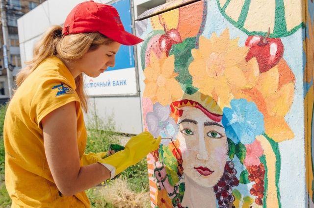 Юные художники каждое лето делают наш город ярче.