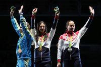 Яна Егорян (по центру) завоевала золотую медаль Олимпийских игр в Рио.