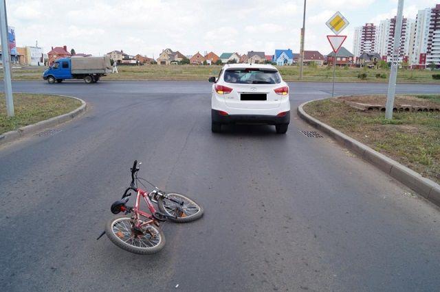 ВПензе молодой велосипедист оказался под колесами иномарки