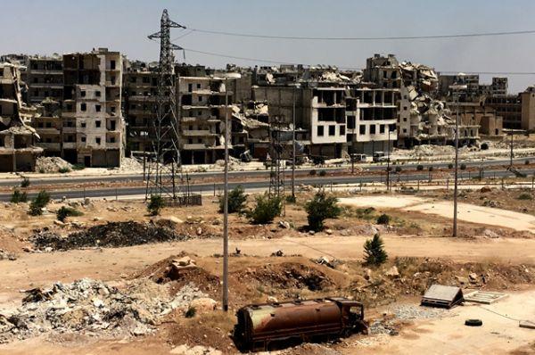 Южный квартал Рамусе сирийского города Алеппо.
