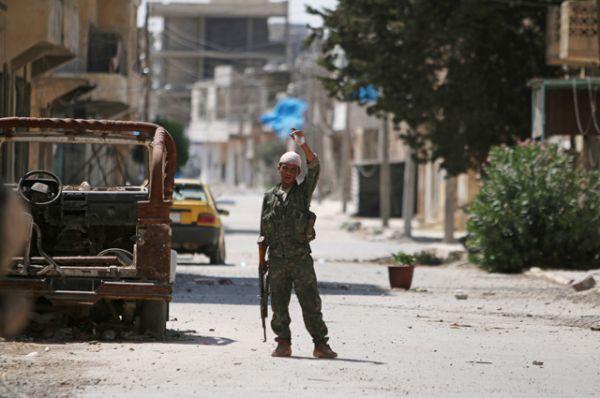 Освобожденные от террористов районы после входа сирийской армии.